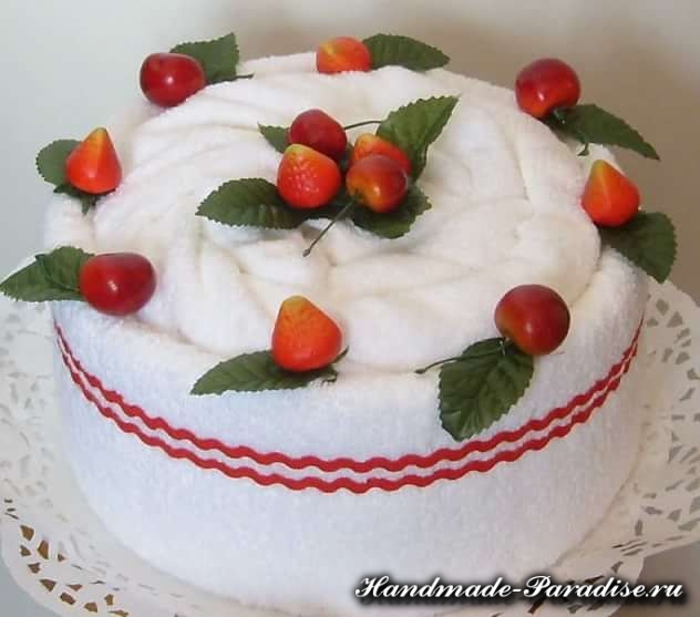 Как сделать торт из полотенец (13)