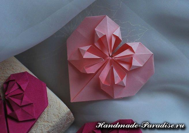 Как сложить сердечко оригами (2)