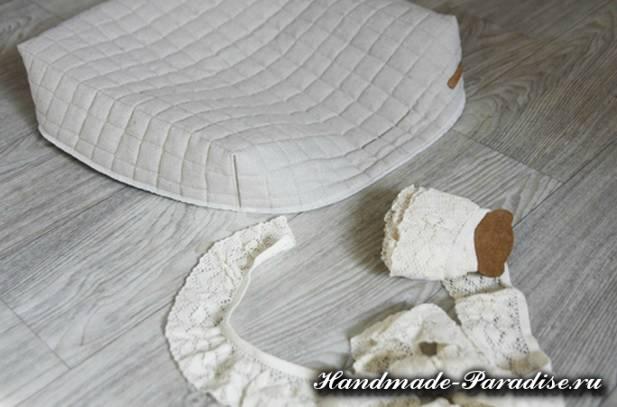 Как сшить подушку на круглый табурет