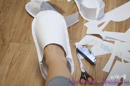 Как сшить мужские тапочки (6)