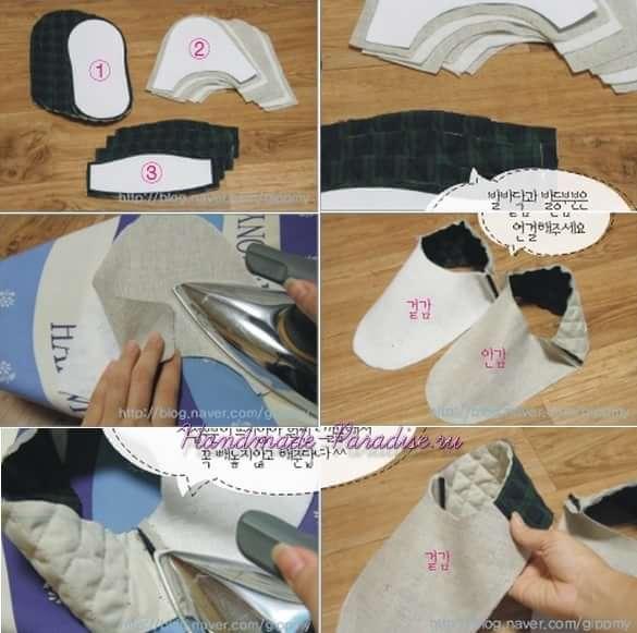 Как сшить мужские тапочки (8)