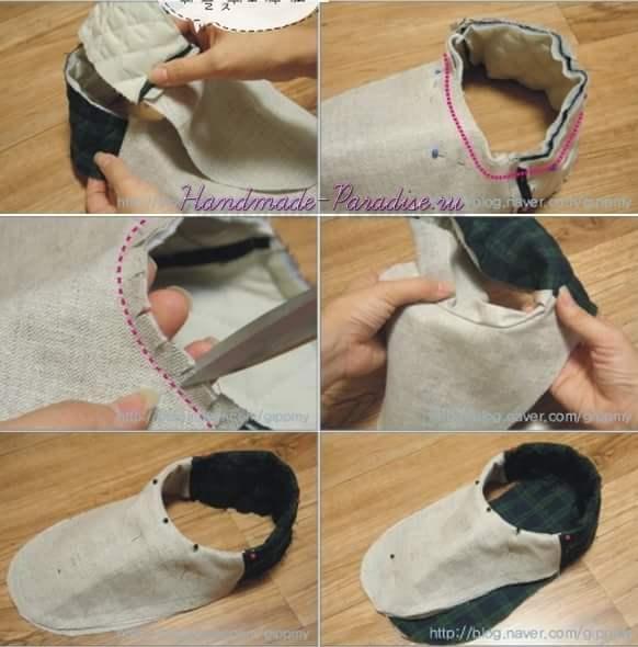 Как сшить мужские тапочки (9)