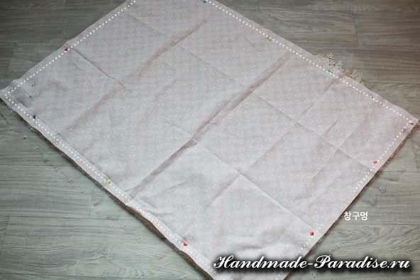 Как сшить теплое одеяло для новорожденного (7)