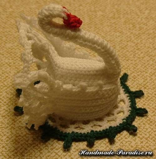 Как связать лебедя крючком. Схемы (12)