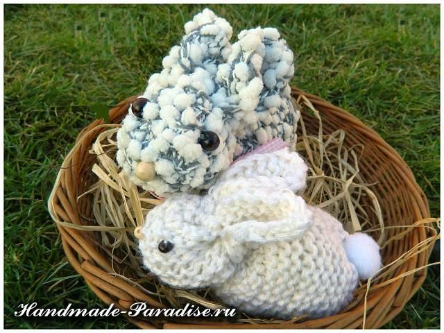 Как связать пасхального кролика спицами (2)