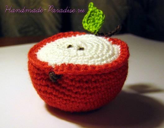 Как связать яблоко крючком (7)