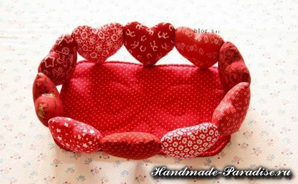 Корзинка с сердечками ко дню Святого Валентина (3)