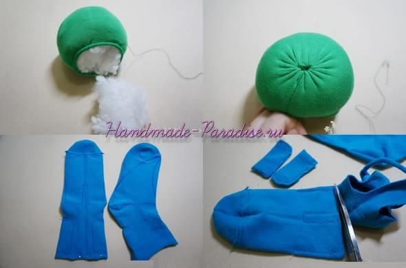 Лягушонок из носков (4)