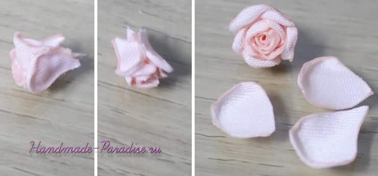 Ободок с розочками из ткани для куклы (7)