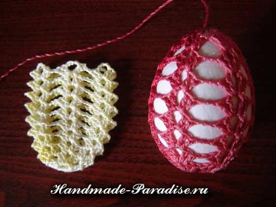 Обвязка крючком пасхальных яиц. Схемы (3)