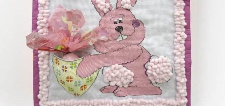 Пасхальное детское панно с вышивкой