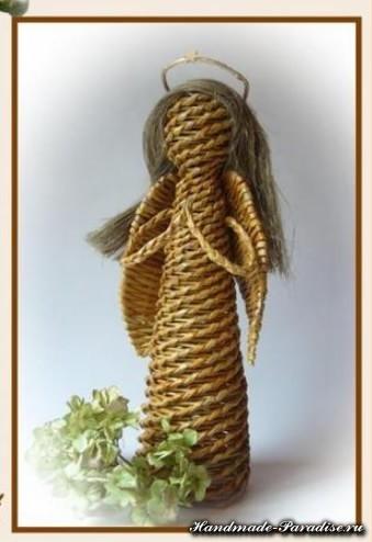 Плетение ангела из газетных трубочек (13)