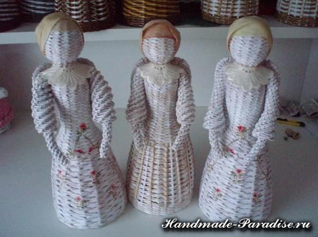 Плетение ангела из газетных трубочек (14)