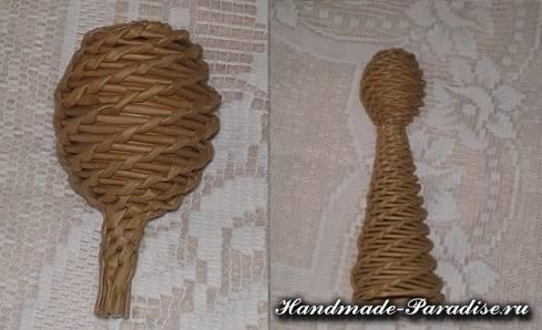 Плетение ангела из газетных трубочек (5)