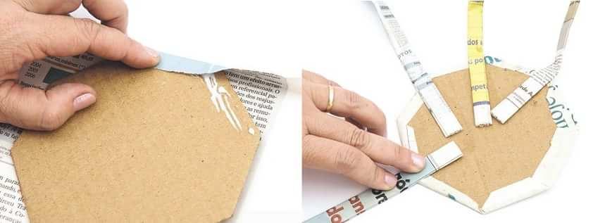 Плетение вазочки из газет (4)