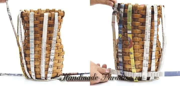 Плетение вазочки из газет (5)