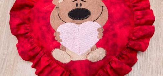 Подушка валентинка своими руками