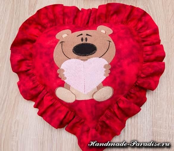 Подушка валентинка своими руками (11)