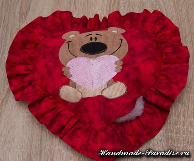 Подушка валентинка своими руками (8)
