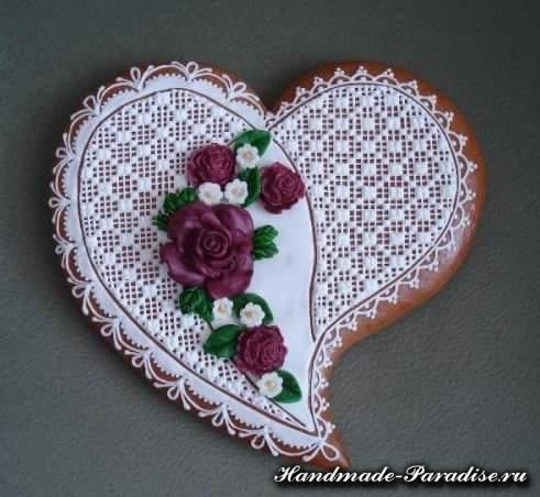 Пряники в форме сердца ко дню Святого Валентина (2)