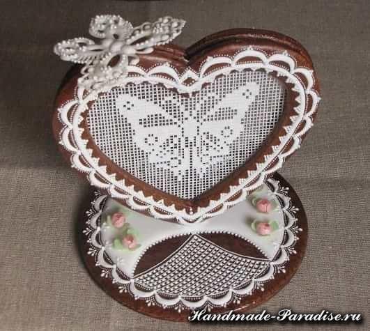 Пряники в форме сердца ко дню Святого Валентина (4)