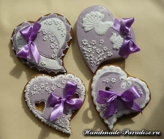 Пряники в форме сердца ко дню Святого Валентина (5)