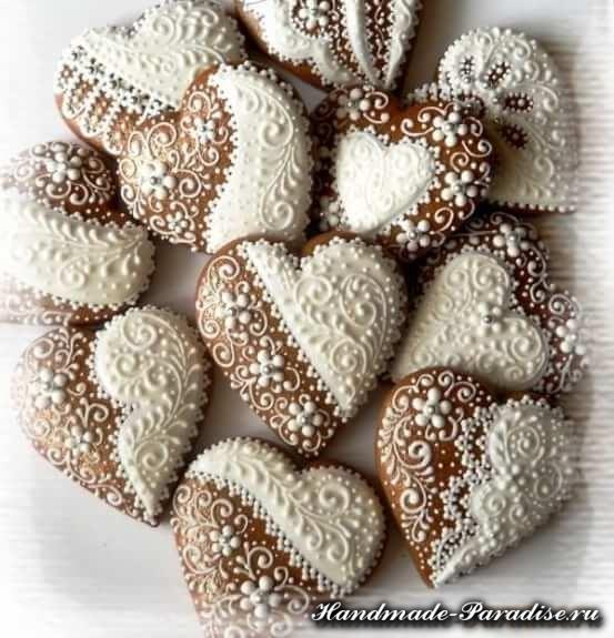 Пряники в форме сердца ко дню Святого Валентина (6)