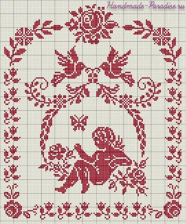 Схема ангела вышивки крестом