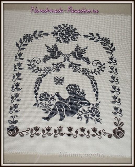 Схема ангела вышивки крестом (2)