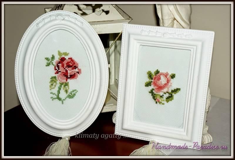Схема вышивки крестом розы