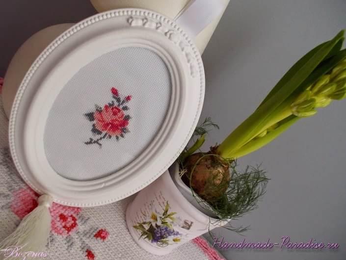Схема вышивки крестом розы (3)
