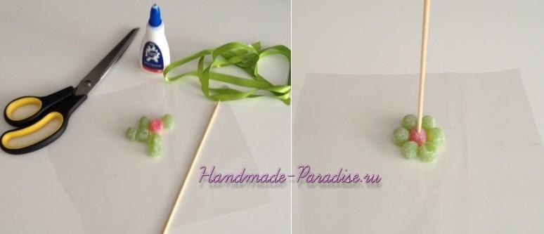 Сладкие букеты из мармеладок (3)
