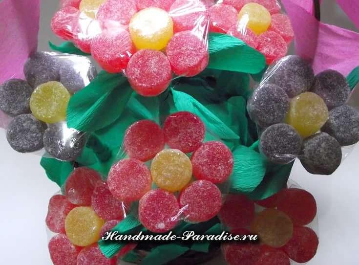Сладкие букеты из мармеладок (9)