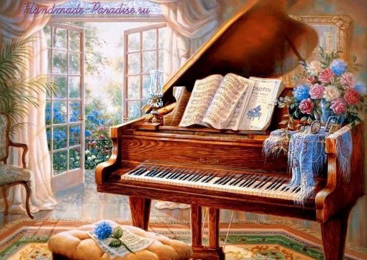 Старый рояль. Картинки для декупажа (2)