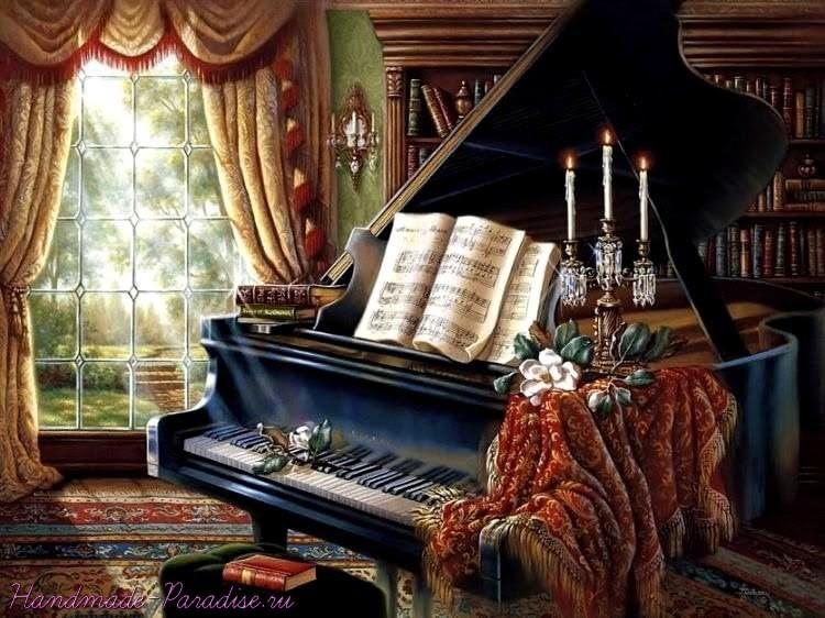 Старый рояль. Картинки для декупажа (3)