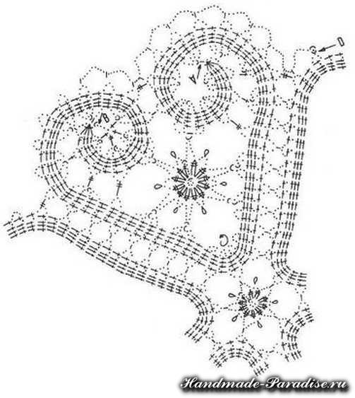 Свадебная подушечка для колец крючком (3)