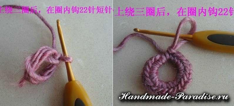 Цветочная шаль крючком (13)
