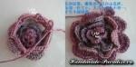Цветочная шаль крючком (32)