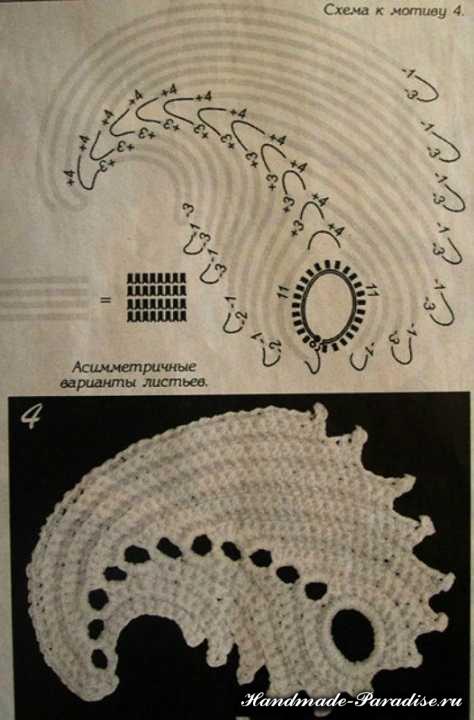 Цветочная шаль крючком (9)