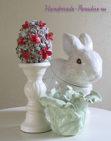 Цветочные пасхальные яйца своими руками (2)