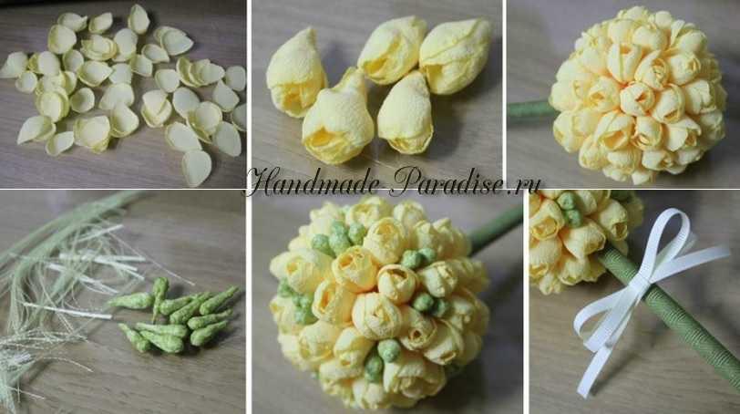 Цветы фрезии из ткани (5)