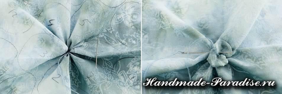 Цветы гортензии из ткани (2)