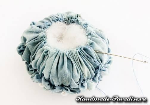 Цветы гортензии из ткани (4)