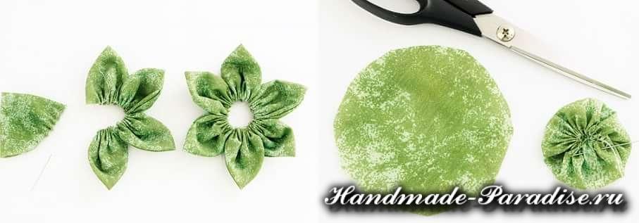 Цветы гортензии из ткани (5)