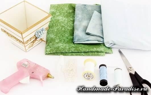 Цветы гортензии из ткани (9)