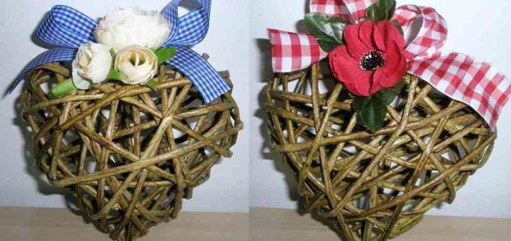 Валентинки из газетных трубочек