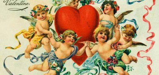 Винтажные открытки день Святого Валентина