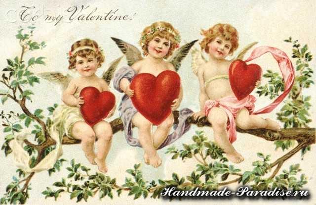 Винтажные открытки день Святого Валентина (2)