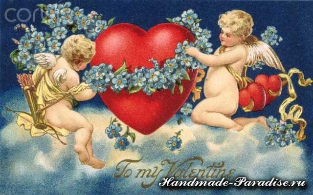 Винтажные открытки день Святого Валентина (3)