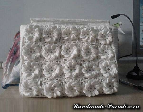 Вышивка лентами сумки